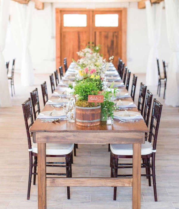 Rent hand-crafted farm tables for weddings in West Virginia, Maryland, and Virginia