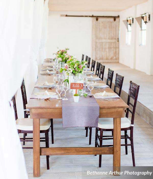 Rent hand-crafted farm tables in West Virginia, Maryland, and Virginia