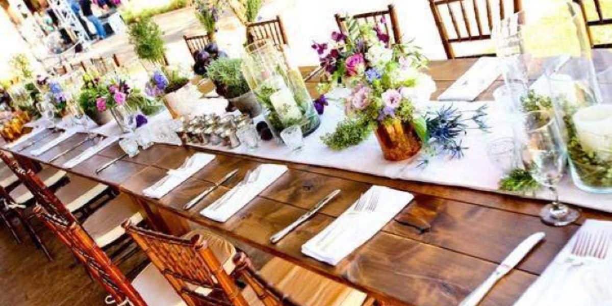 Rent hand-crafted farm tables for events in West Virginia, Maryland, and Virginia