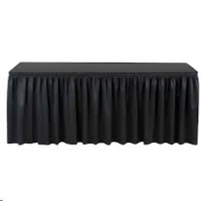 Where to find Table Skirt- Black or White in Kearneysville