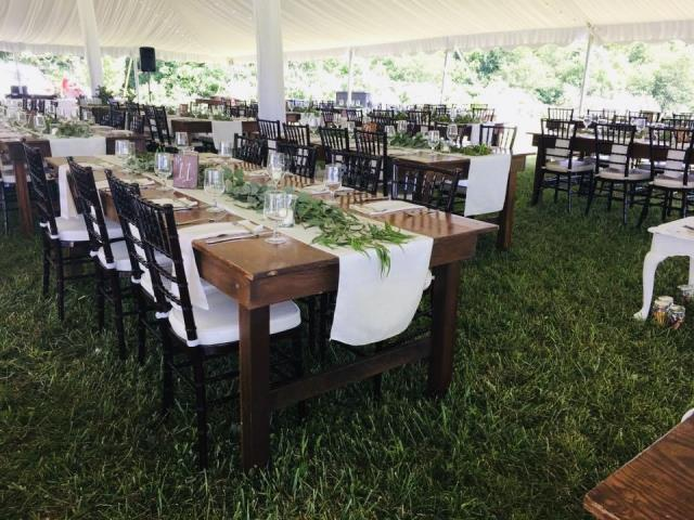 Farm Table rentals in Kearneysville West Virginia, Ranson, Charles Town, Harpers Ferry WV